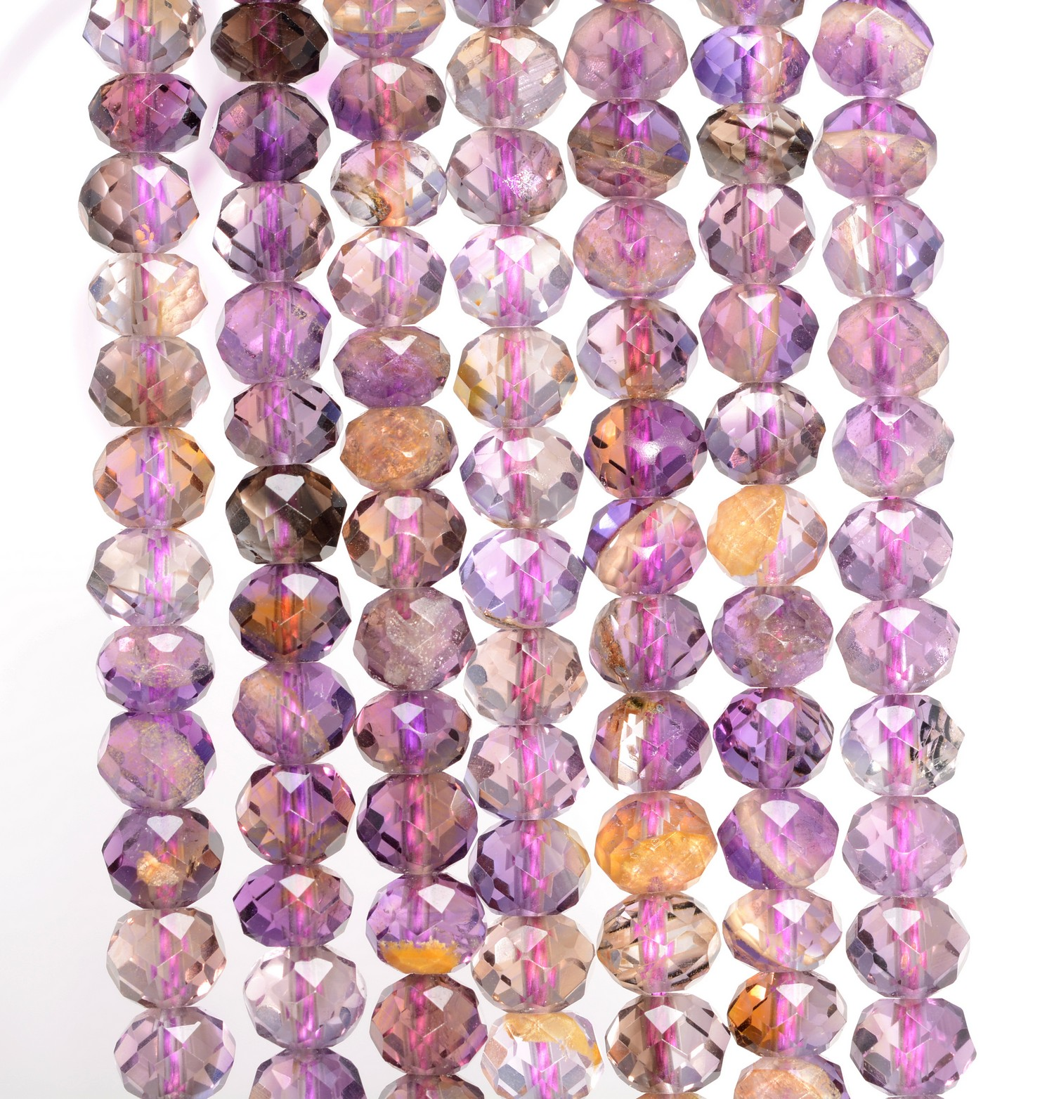 5X3MM AMETRINE GEMSTONE GRADE AAA MICRO FACETED RONDELLE LOOSE BEADS 15.5/""